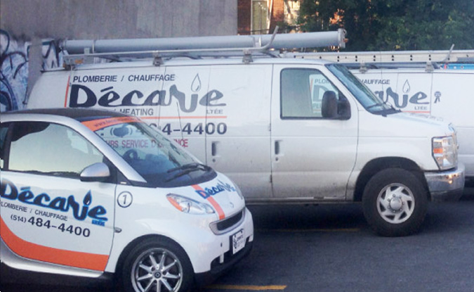 Montreal plumbing services company, Décarie Plumbing and Heating Ltd.